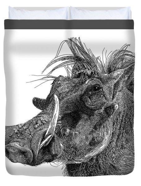 Warthog Duvet Cover