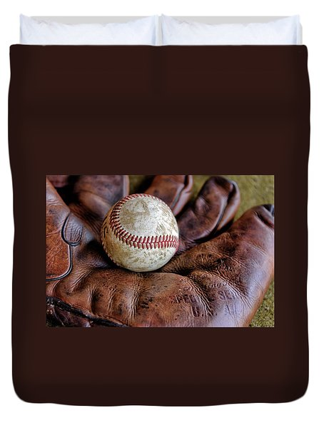 Wartime Baseball Duvet Cover
