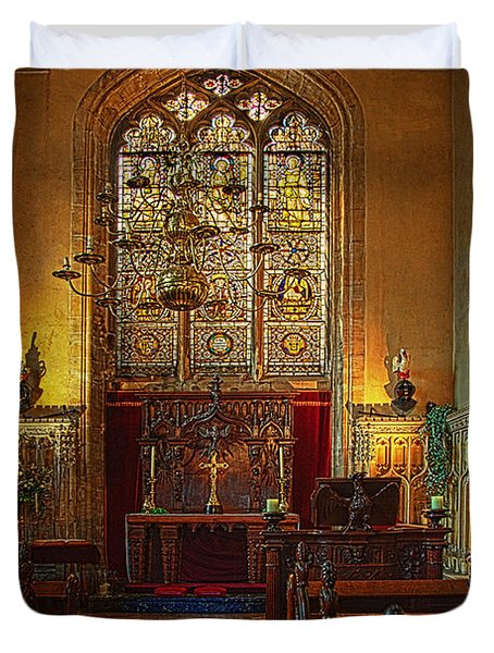 Warwick Castle Chapel Duvet Cover by Chris Lord
