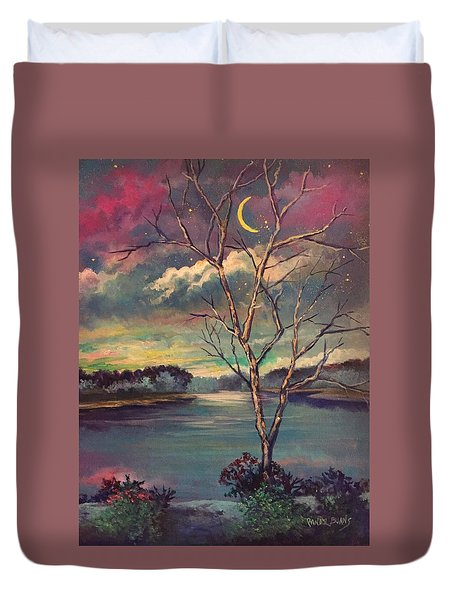 Was Like Stained Glass Duvet Cover by Randy Burns