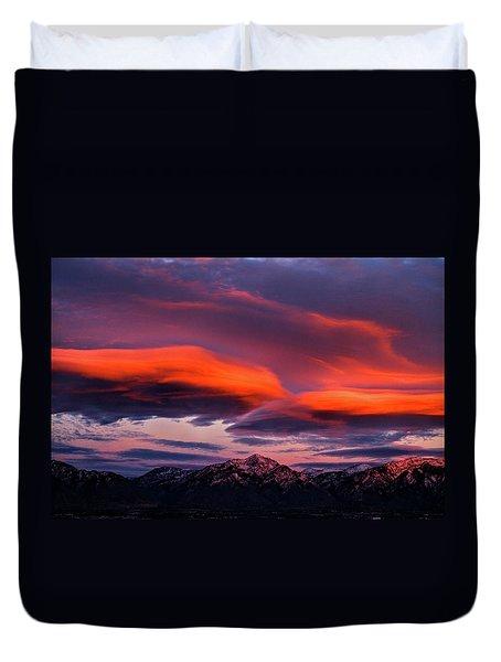 Wasatch Sunrise II Duvet Cover
