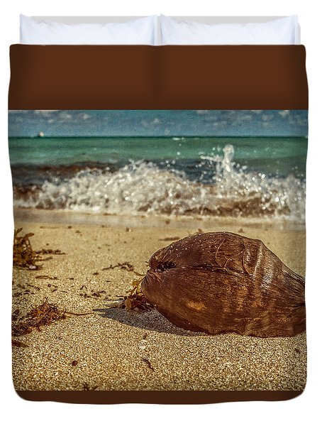 Duvet Cover featuring the photograph Wash Me Away by Melinda Ledsome