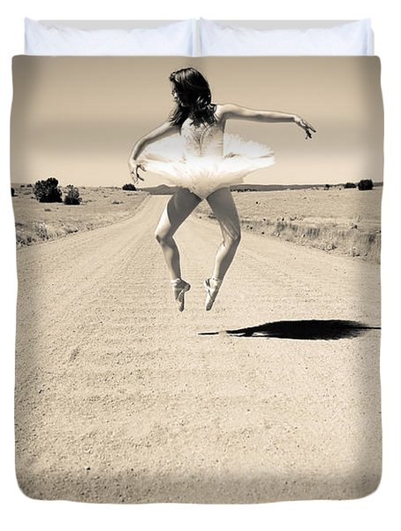 Washboard Ballet Duvet Cover