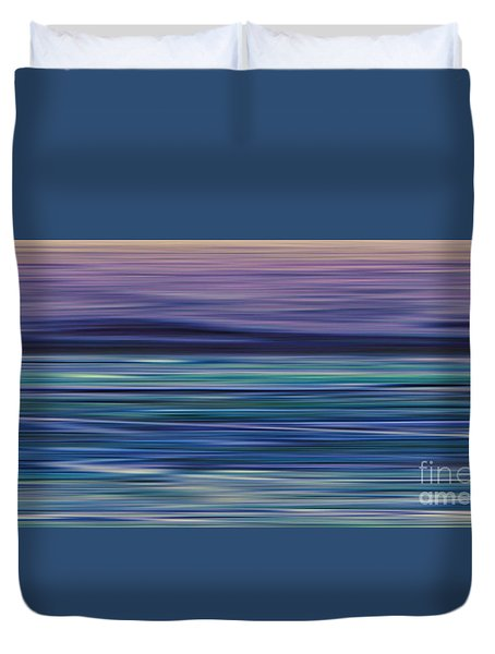 Washed Away - Left Panel Duvet Cover by Andrea Kollo