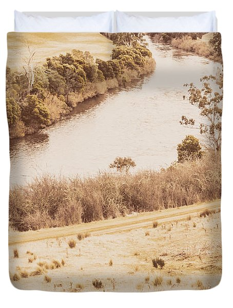 Washes Of Rustic Country Duvet Cover