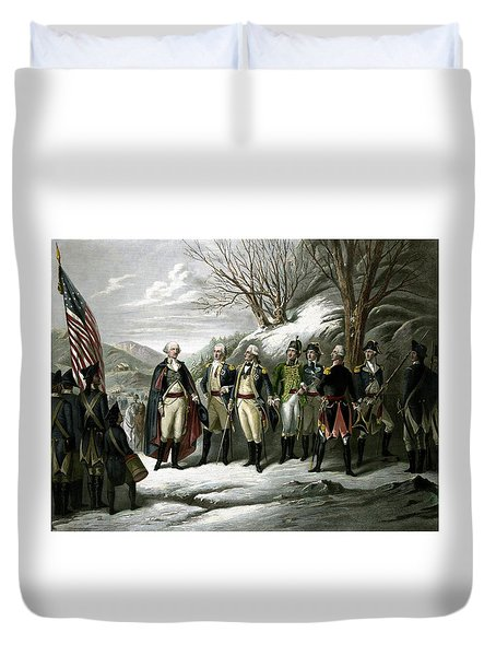 Washington And His Generals  Duvet Cover