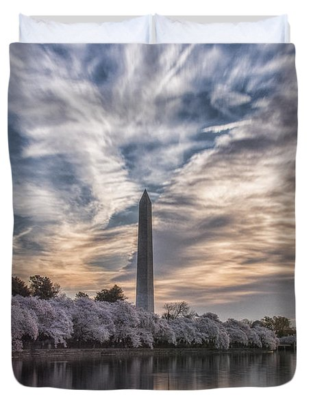 Washington Blossom Sunrise Duvet Cover