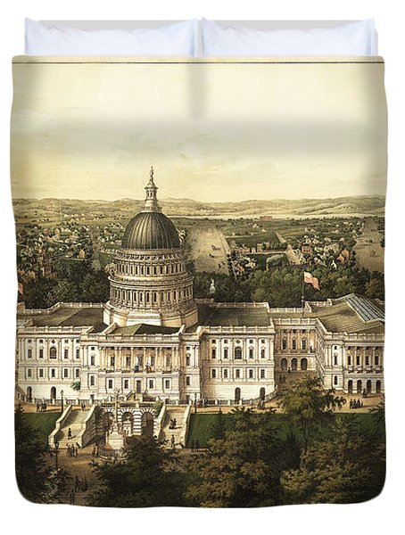 Washington City 1857 Duvet Cover by Jon Neidert