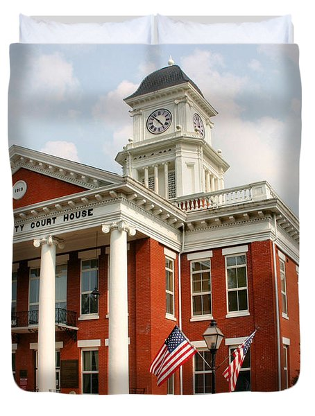 Washington County Courthouse Duvet Cover by Kristin Elmquist