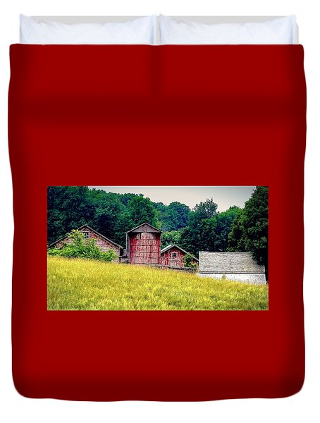 Duvet Cover featuring the photograph Washington County Vignette by Kendall McKernon