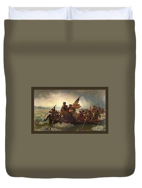 Washington Crossing The Delaware Duvet Cover by John Stephens