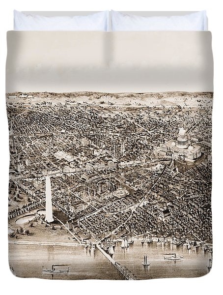 Washington D.c., 1892 Duvet Cover