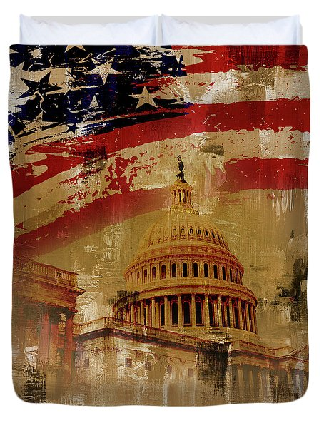 Washington Dc Duvet Cover