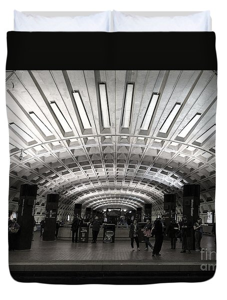 Washington Dc Metro Metro Center Stop Duvet Cover
