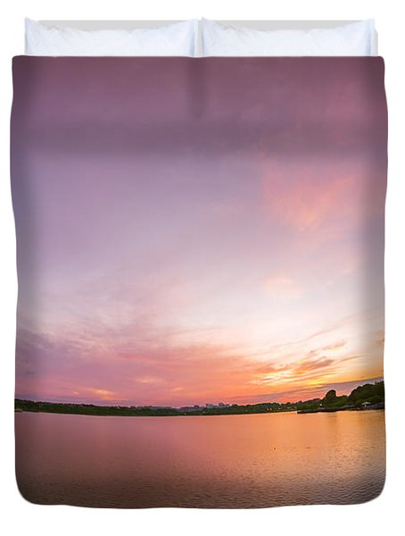 Washington D.c. Sunset Duvet Cover