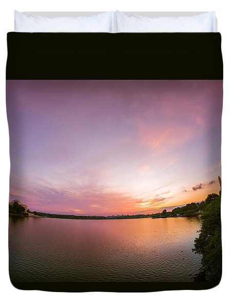 Washington D.c. Sunset Duvet Cover
