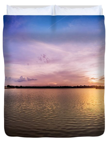 Washington D.c Tidal Basin Sunset Duvet Cover