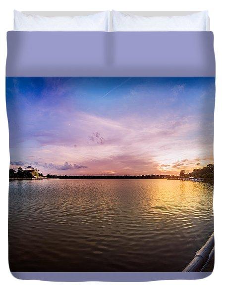 Washington D.c Tidal Basin Sunset Duvet Cover