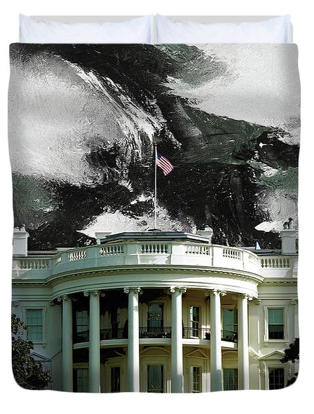 Washington Dc, White House Duvet Cover by Gull G