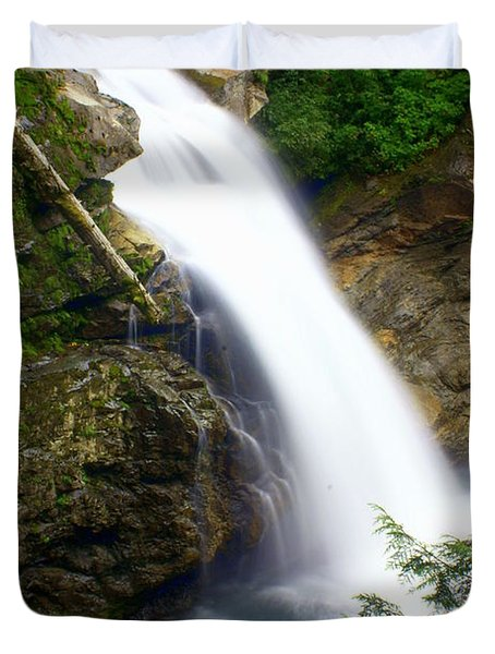 Washington Falls 2 Duvet Cover by Marty Koch