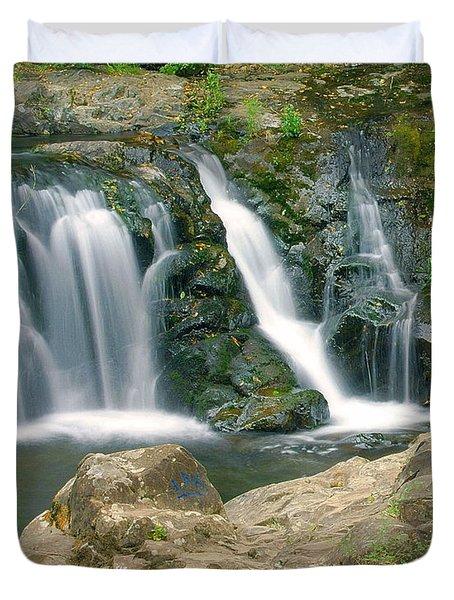 Washington Falls 3 Duvet Cover by Marty Koch
