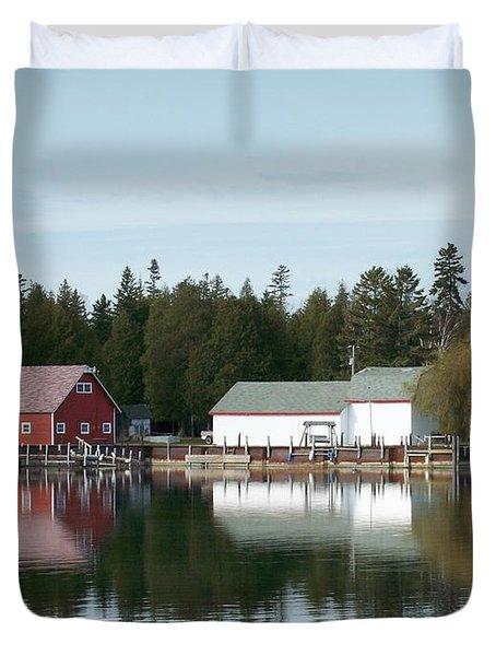 Washington Island Harbor 7 Duvet Cover