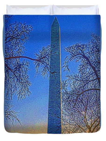 Washington Monument Duvet Cover by Dennis Cox WorldViews