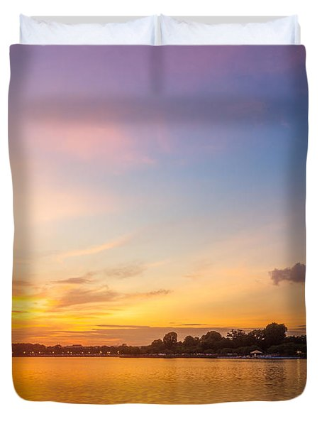 Washington Monument Sunset Duvet Cover