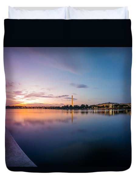 Washington Monument Twilight Duvet Cover