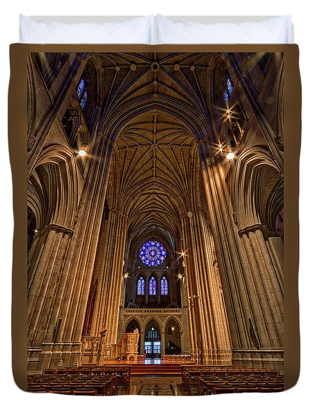 Washington National Cathedral Crossing Duvet Cover