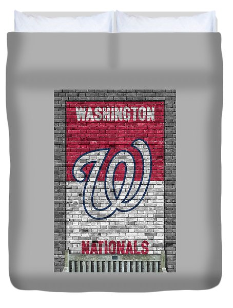 Washington Nationals Brick Wall Duvet Cover