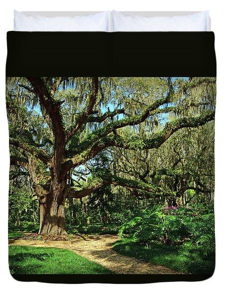 Washington Oaks Gardens Duvet Cover