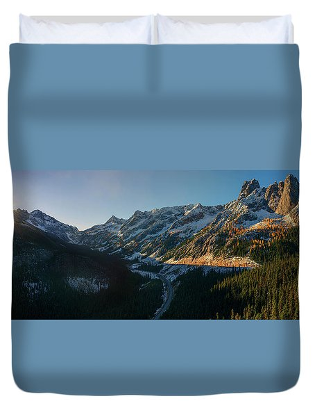 Washington Pass Rising Duvet Cover