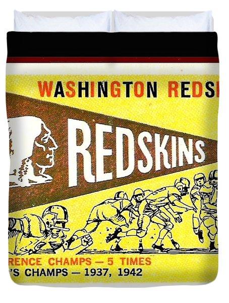 Washington Redskins 1959 Pennant Card Duvet Cover by Paul Van Scott