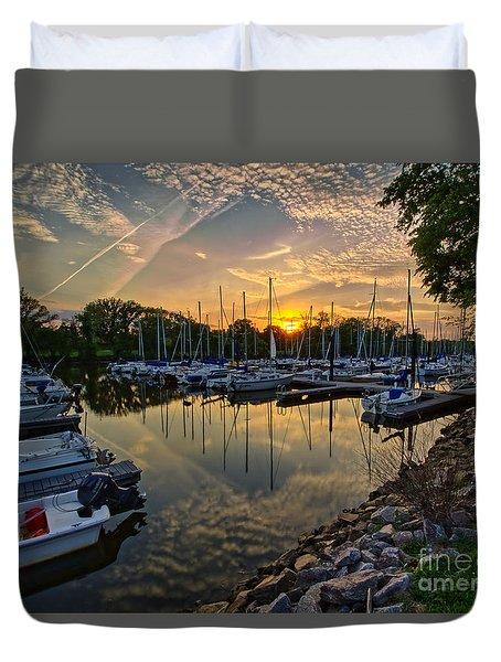 Washington Sailing Marina Duvet Cover