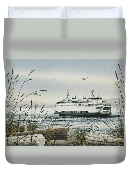 Washington State Ferry Duvet Cover