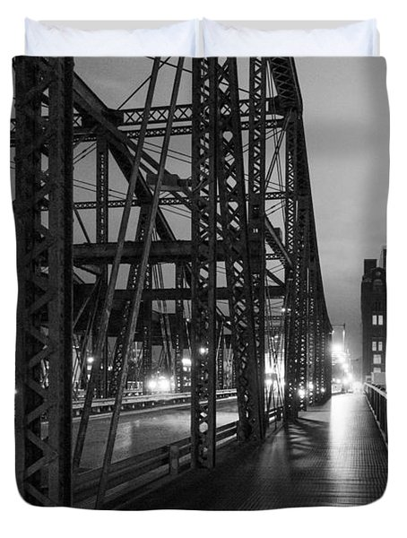 Washington Street Bridge Duvet Cover