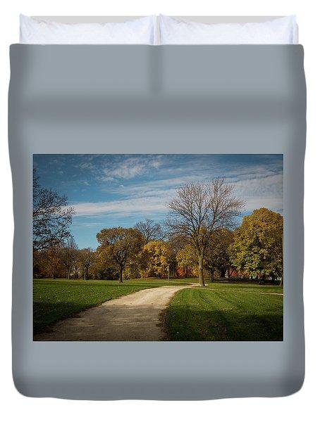 Duvet Cover featuring the photograph Washington Walkway by Kimberly Mackowski