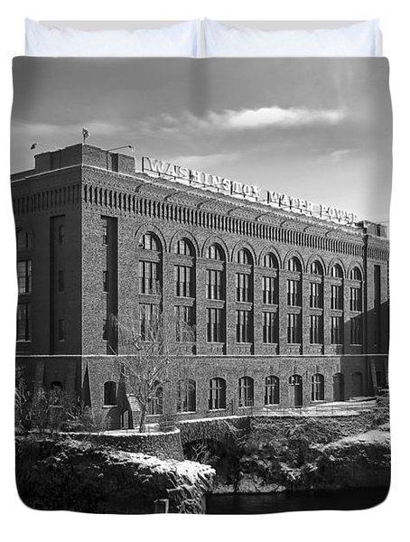 Washington Water Power Post Street Station - Spokane Washington Duvet Cover by Daniel Hagerman