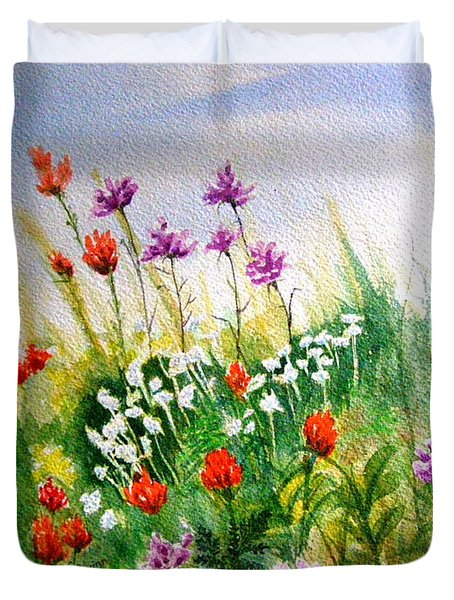 Washington Wildflowers Duvet Cover