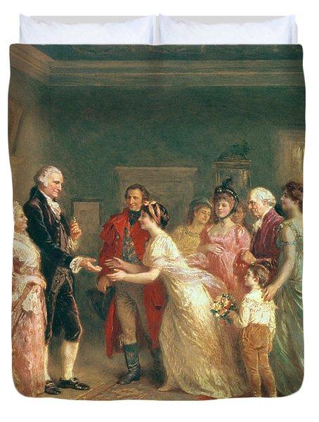 Washingtons Birthday Duvet Cover by Jean Leon Jerome Ferris