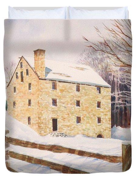Washington's Grist Mill Duvet Cover by Tom Harris
