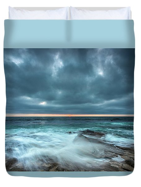 Washover Duvet Cover by Peter Tellone