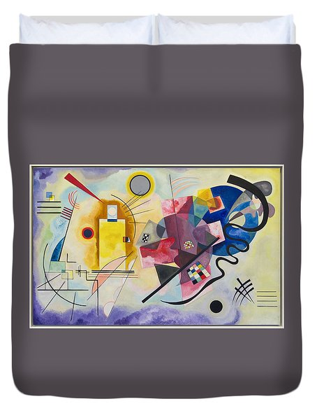Duvet Cover featuring the painting Wassily Kandinsky,jaune Rouge Bleu by Celestial Images