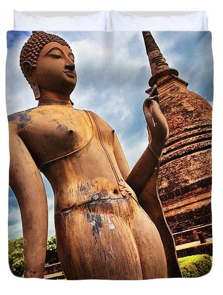 Wat Sra Sri In Sukhothai Thailand Southeast Asia Duvet Cover
