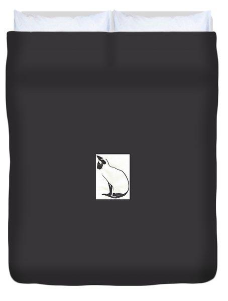 Siamese Silhouette  Duvet Cover