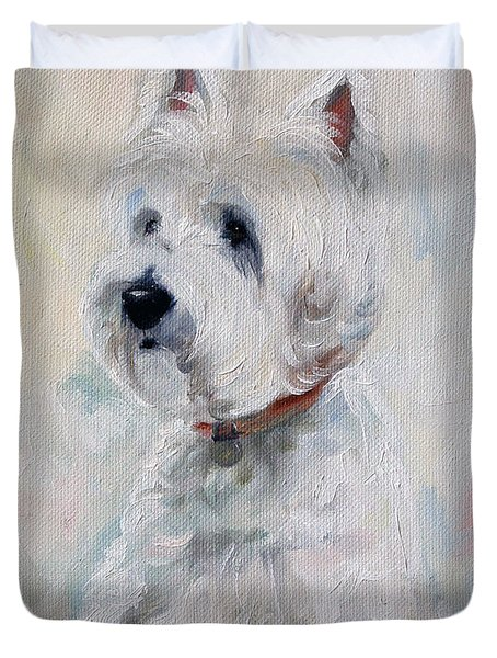 Watch Dog Duvet Cover by Mary Sparrow