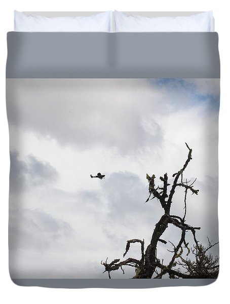 Duvet Cover featuring the photograph Watch Out For That Tree by Marie Neder