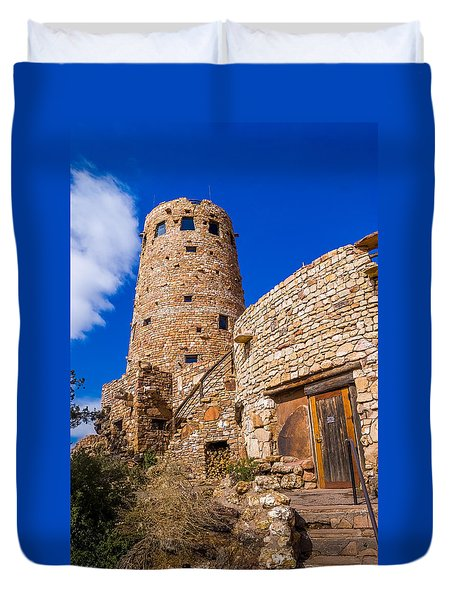 Duvet Cover featuring the photograph Watch Tower by Jerry Cahill