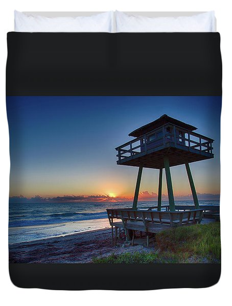 Watch Tower Sunrise 2 Duvet Cover